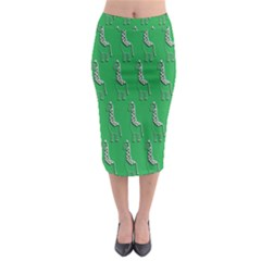 Giraffe Pattern Wallpaper Vector Midi Pencil Skirt
