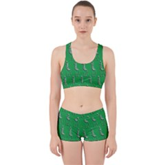 Giraffe Pattern Wallpaper Vector Work It Out Sports Bra Set