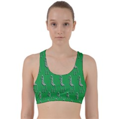 Giraffe Pattern Wallpaper Vector Back Weave Sports Bra