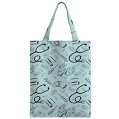 Pattern Medicine Seamless Medical Zipper Classic Tote Bag