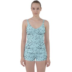 Pattern Medicine Seamless Medical Tie Front Two Piece Tankini