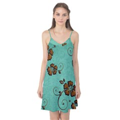 Chocolate Background Floral Pattern Camis Nightgown