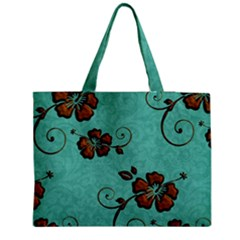 Chocolate Background Floral Pattern Medium Tote Bag