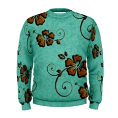 Chocolate Background Floral Pattern Men s Sweatshirt