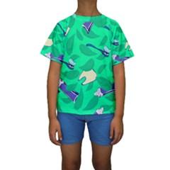 Pattern Seamless Background Desktop Kids  Short Sleeve Swimwear