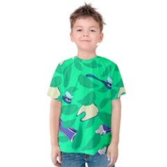 Pattern Seamless Background Desktop Kids  Cotton Tee