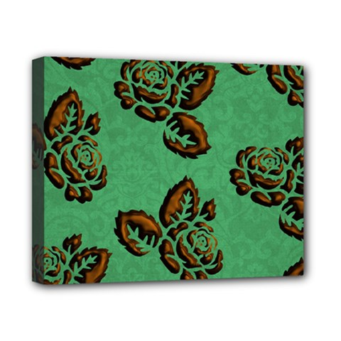 Chocolate Background Floral Pattern Canvas 10  X 8
