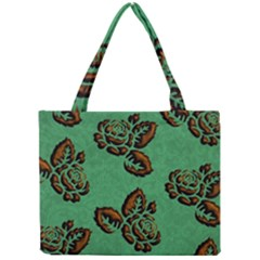 Chocolate Background Floral Pattern Mini Tote Bag