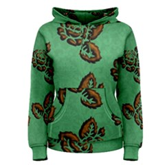 Chocolate Background Floral Pattern Women s Pullover Hoodie