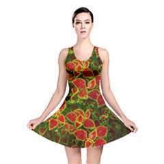 Flower Red Nature Garden Natural Reversible Skater Dress