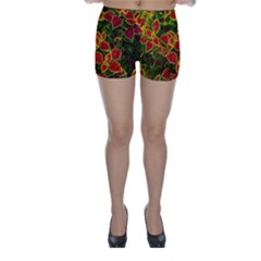 Flower Red Nature Garden Natural Skinny Shorts