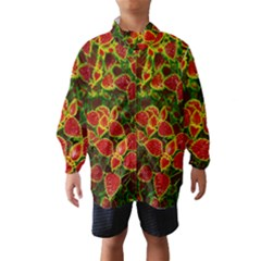 Flower Red Nature Garden Natural Wind Breaker (kids)