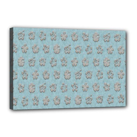 Texture Background Beige Grey Blue Canvas 18  X 12