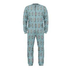 Texture Background Beige Grey Blue Onepiece Jumpsuit (kids)