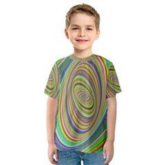 Ellipse Background Elliptical Kids  Sport Mesh Tee