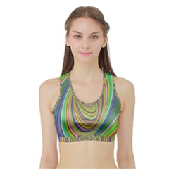 Ellipse Background Elliptical Sports Bra With Border