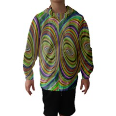 Ellipse Background Elliptical Hooded Wind Breaker (kids)