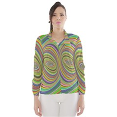 Ellipse Background Elliptical Wind Breaker (women)