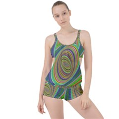 Ellipse Background Elliptical Boyleg Tankini Set