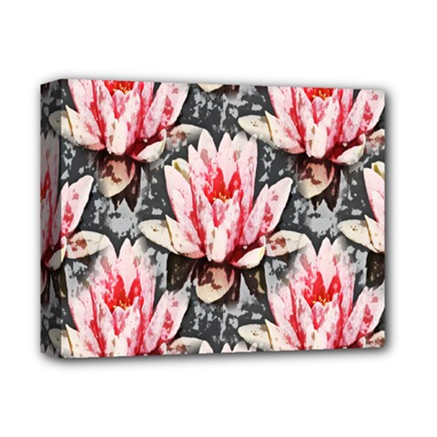 Water Lily Background Pattern Deluxe Canvas 14  X 11