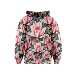 Water Lily Background Pattern Kids  Pullover Hoodie