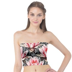 Water Lily Background Pattern Tube Top