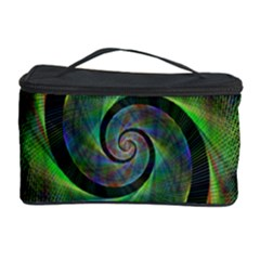 Green Spiral Fractal Wired Cosmetic Storage Case