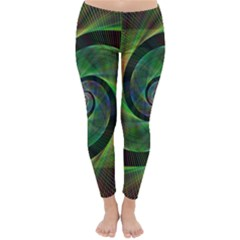 Green Spiral Fractal Wired Classic Winter Leggings