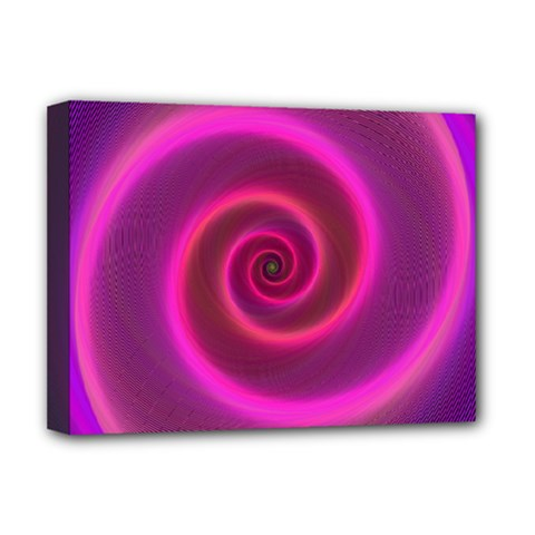 Pink Background Neon Neon Light Deluxe Canvas 16  X 12