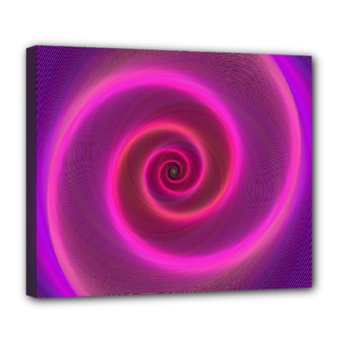 Pink Background Neon Neon Light Deluxe Canvas 24  X 20