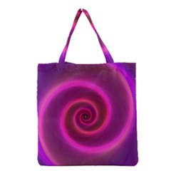 Pink Background Neon Neon Light Grocery Tote Bag