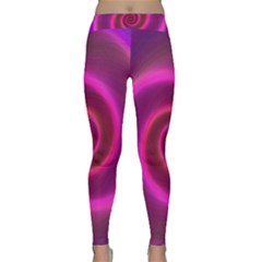 Pink Background Neon Neon Light Classic Yoga Leggings