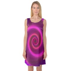 Pink Background Neon Neon Light Sleeveless Satin Nightdress