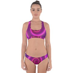 Pink Background Neon Neon Light Cross Back Hipster Bikini Set