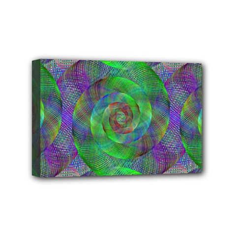 Fractal Spiral Swirl Pattern Mini Canvas 6  X 4