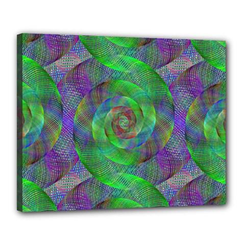 Fractal Spiral Swirl Pattern Canvas 20  X 16