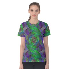 Fractal Spiral Swirl Pattern Women s Cotton Tee