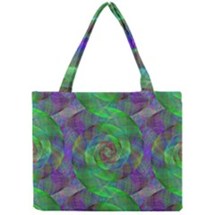 Fractal Spiral Swirl Pattern Mini Tote Bag