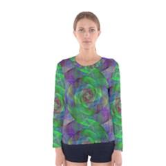 Fractal Spiral Swirl Pattern Women s Long Sleeve Tee