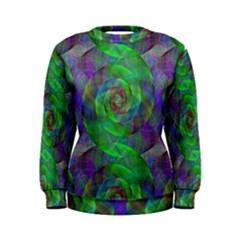 Fractal Spiral Swirl Pattern Women s Sweatshirt