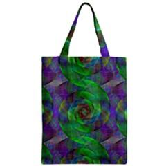 Fractal Spiral Swirl Pattern Zipper Classic Tote Bag