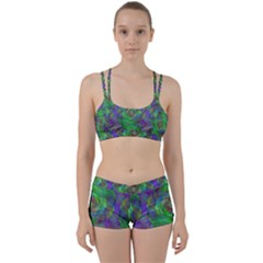 Fractal Spiral Swirl Pattern Women s Sports Set