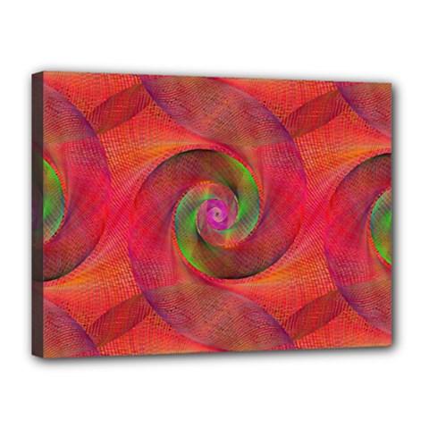 Red Spiral Swirl Pattern Seamless Canvas 16  X 12