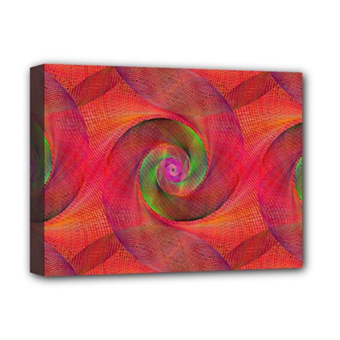Red Spiral Swirl Pattern Seamless Deluxe Canvas 16  X 12