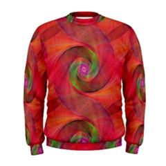 Red Spiral Swirl Pattern Seamless Men s Sweatshirt