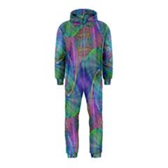 Spiral Pattern Swirl Pattern Hooded Jumpsuit (kids)