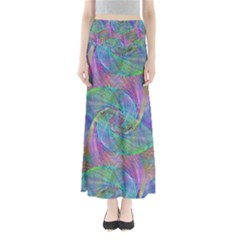 Spiral Pattern Swirl Pattern Full Length Maxi Skirt