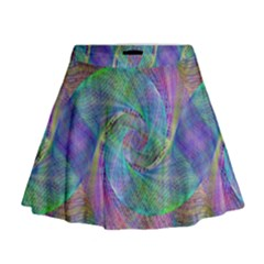 Spiral Pattern Swirl Pattern Mini Flare Skirt