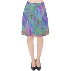 Spiral Pattern Swirl Pattern Velvet High Waist Skirt
