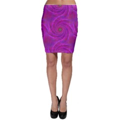 Pink Abstract Background Curl Bodycon Skirt